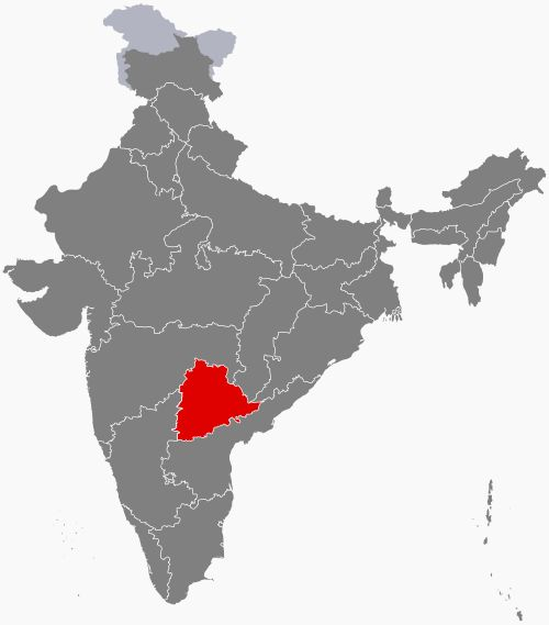 Its major cities include Hyderabad, Warangal, Nizamabad, Khammam and Karimnagar. Telangana is bordered by the states of Maharashtra to the north and northwest, Chhattisgarh to the north, Karnataka to the west and Andhra Pradesh to the east and south. Telangana had a history as the Telugu-speaking region of the princely state of Hyderabad, ruled by the Nizam of Hyderabad. It joined the Union of India in 1948. In 1956, the Hyderabad State was dissolved as part of the linguistic reorganisation…