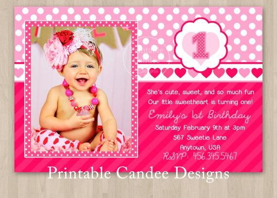 Sweetheart Valentine Birthday Invitation  by printablecandee, $10.00