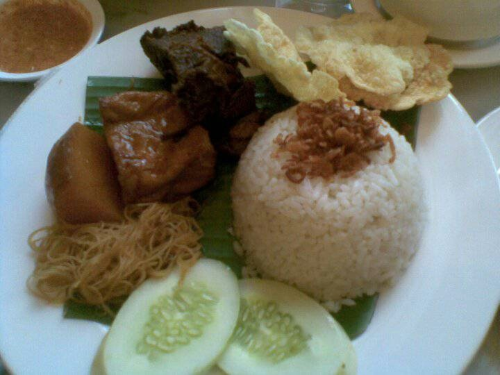 The Kafe Betawi's Nasi Uduk (rice cooked with Coconut milk)