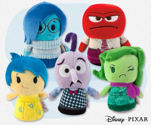 Release the little voices in your head—itty bittys style. @hallmark  introduces five new itty bittys based on the emotions featured in Inside Out: Joy, Sadness, Fear, Anger and Disgust. Now you can get ahold of all of your emotions—literally—and add them to your itty bittys collection. Emotions have never been so cute and cuddly! Look for them in stores and online soon. #ittybittys @influenster