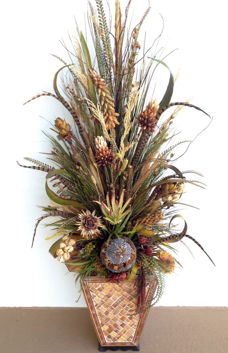 Dried preservative flower arrangement. Designed by Arcadia Floral & Home Decor
