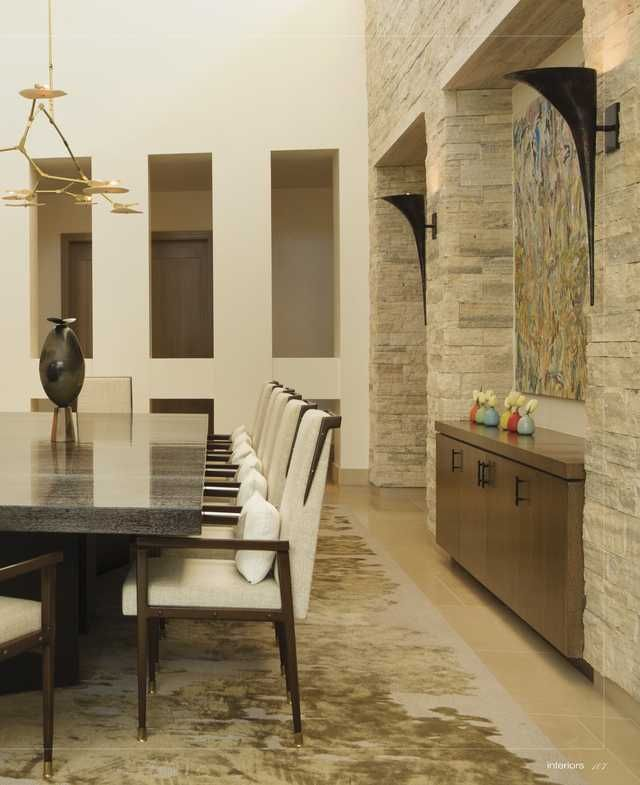 interiors octobernovember 2014 page 107 find this pin and more on modern luxury dining