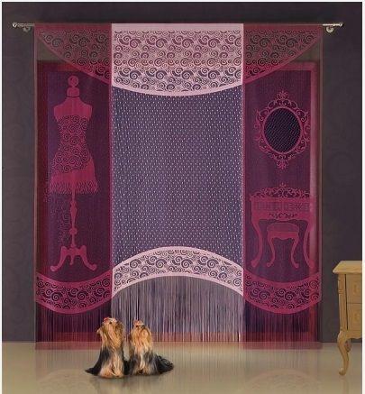 Panel gotowy garderoba w kolorze wiśniowo -białym. Dostępny w sklepie Kasandra.com.pl