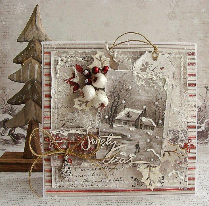 новогодние открытки винтаж скрапбукинг тоже