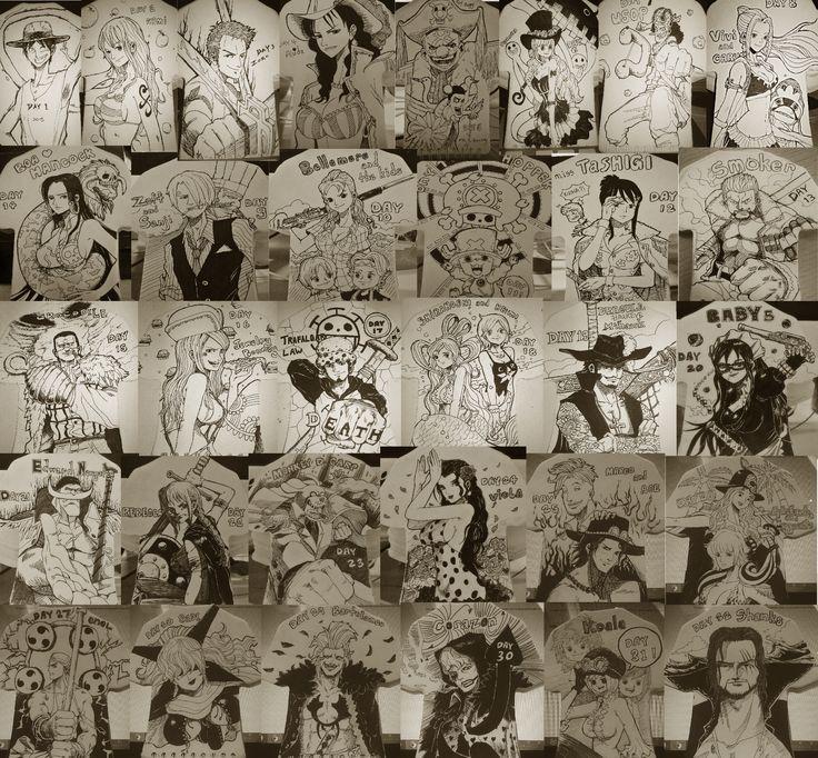 2015 one piece inktober compilation