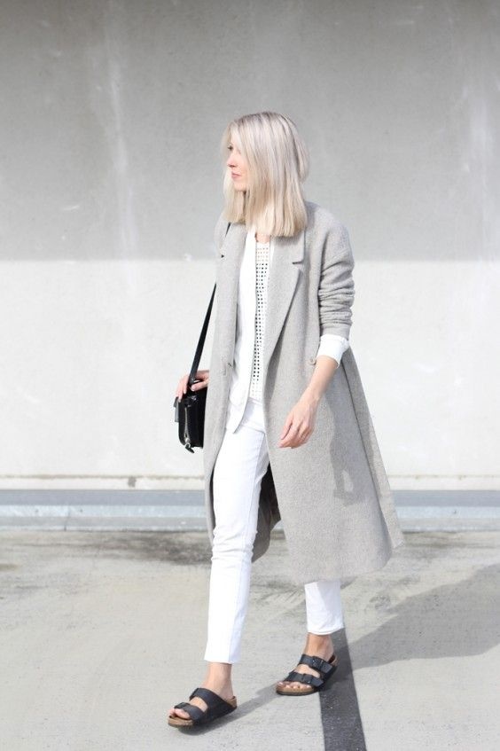 Outfit: all white + Birkenstock