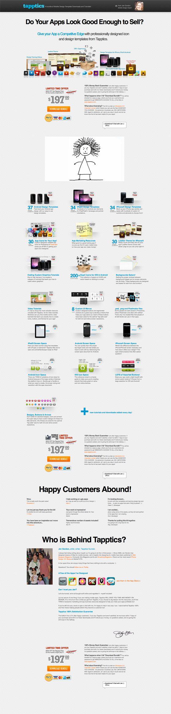 Beautiful mobile app design from Tapptics. #LandingPage Example - #Unbounce