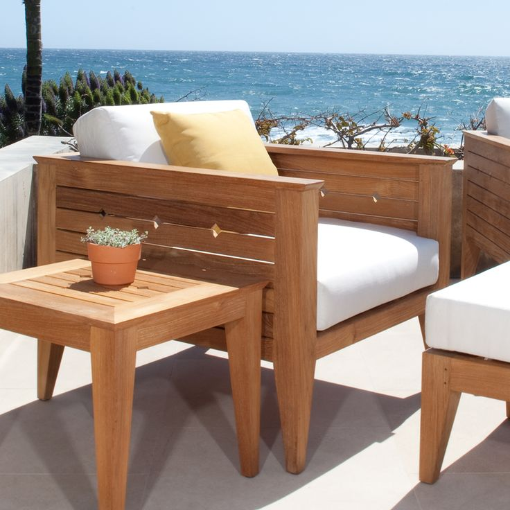 The Craftsman Teak Lounge Chair makes a bold yet simple statement in any environment, from outdoor loggia to the living room. The transitional design of this deep seating lounge chair mixes a solid classic functionality with a modern clean aesthetic. Generously proportioned, this chair ensures hours of comfort, whether indoors or out.
