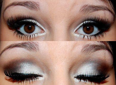 black and white: Prommakeup, Eye Makeup, Brown Eye, Eye Shadows, Eyeshadows, Eyemakeup, Smokey Eye, Wedding Makeup, Prom Makeup