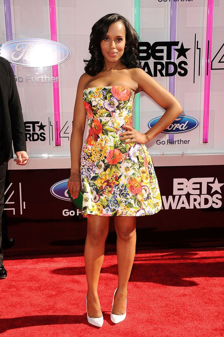 Kerry Washington in Dolce & Gabbana and Casadei at the BET Awards.