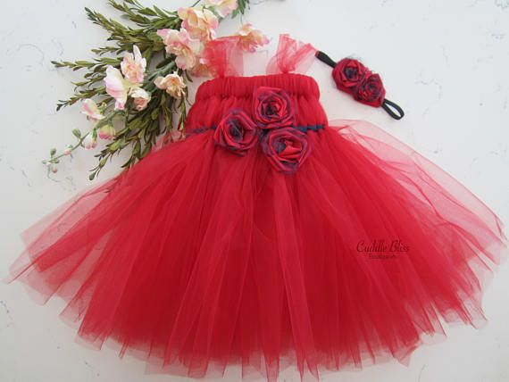 Check out this item in my Etsy shop https://www.etsy.com/listing/117325945/red-flower-girl-tutu-dress-red-tutu