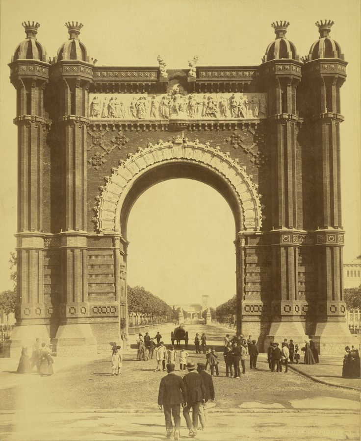 Barcelona 1888 Universal Exhibition.   Triumphal Arch  http://johost.eu/vol6_fall_2012/agusti_galan.htm