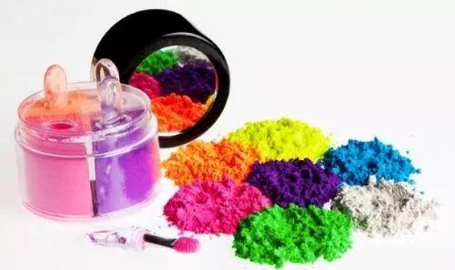 kit maquiagem sombra neon fluor iluminadora asa borboleta