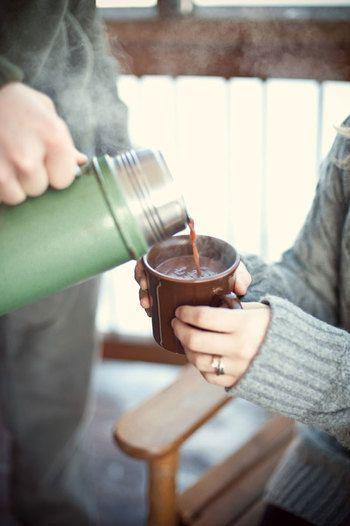 寒い季節のマイボトル♪温かい飲み物におすすめ魔法瓶と、お茶やスープの中身アイデア