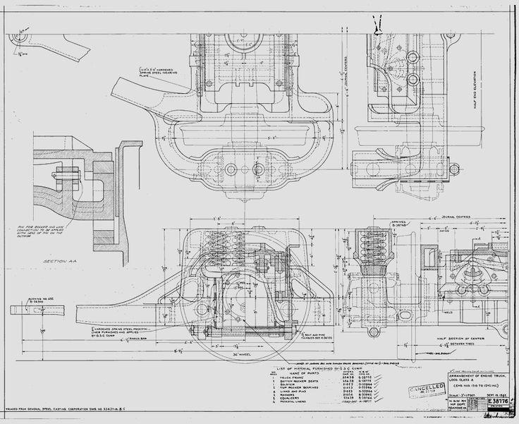 Arrangement of Engine Truck, Loco. Class A (Eng. Nos. 1210
