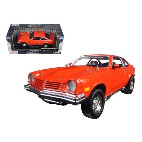 1974 Chevrolet Vega Orange 1/24 Diecast Model Car by Motormax