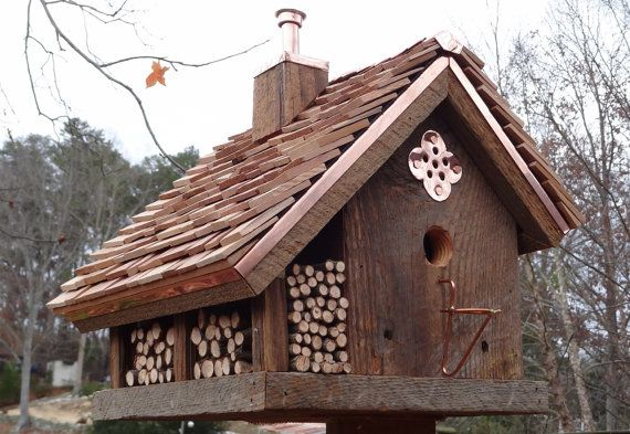 Hunting Shack Bird Home by copRcreations on Etsy, $259.00