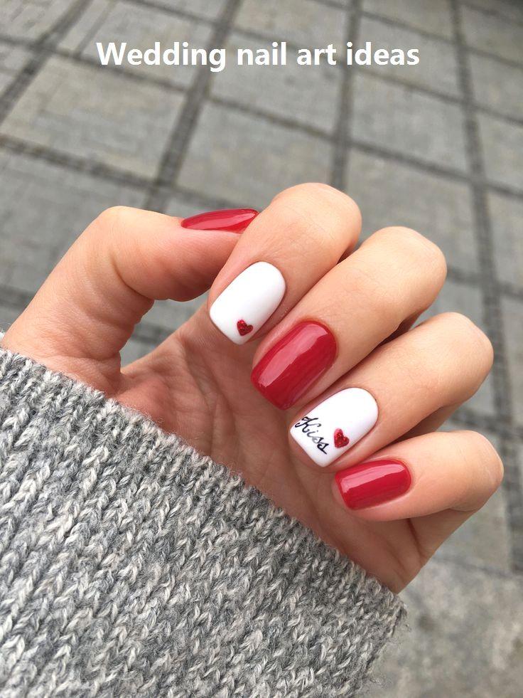 35 Simple Ideas for Wedding Nails Design #nailartideas #naildesigns