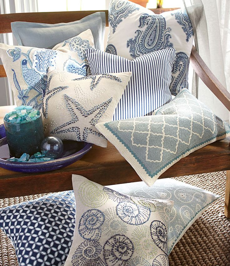 Going Coastal Pottery Barn Part I: 25+ Best Ideas About Pottery Barn Pillows On Pinterest