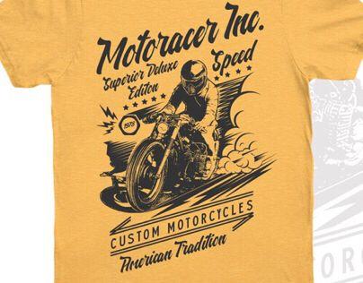 """Check out my @Behance project: """"Motoracer Inc. T-Shirt Design Template"""" https://www.behance.net/gallery/43835479/Motoracer-Inc-T-Shirt-Design-Template"""
