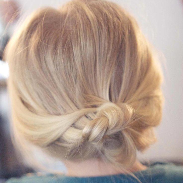 Chignon sur cheveux courts et fins / Bun on short and fine hair