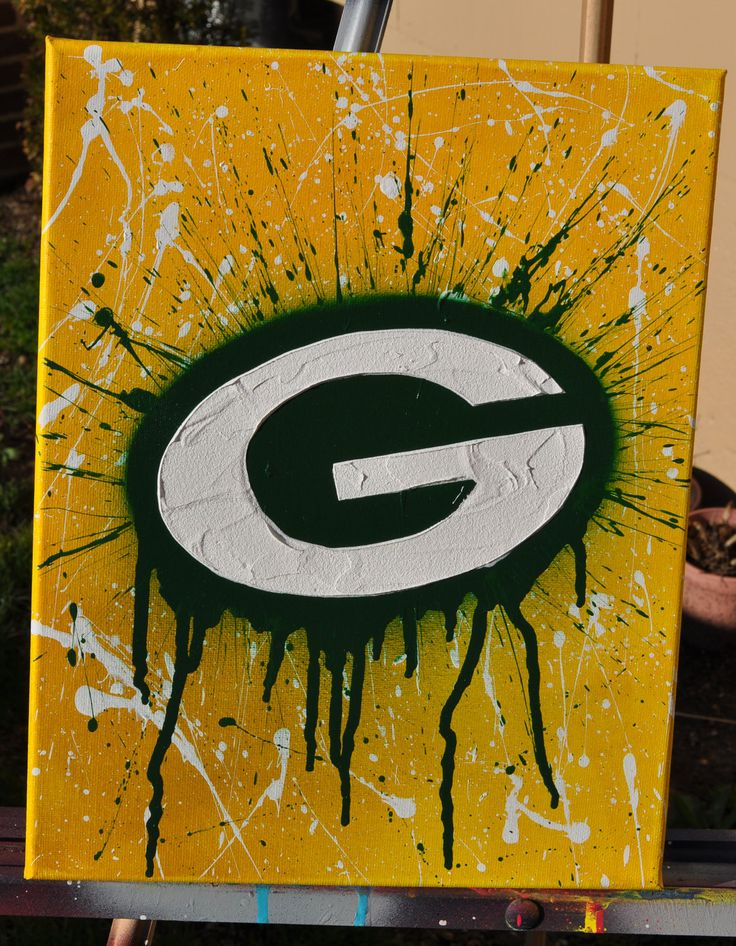 Green Bay Packers fine art by Summo. $60.00, via Etsy.