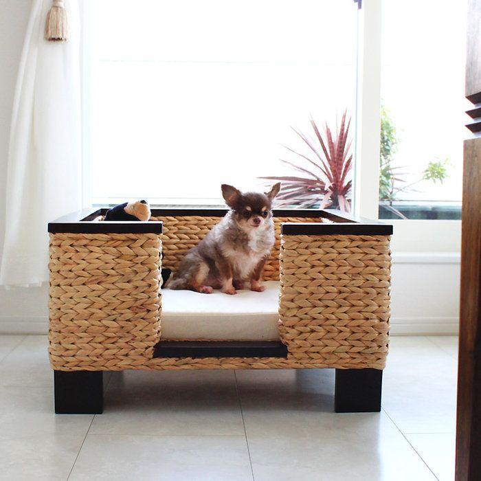 送料無料ウォーターヒヤシンス・ペットベッドwithクッションウォーターヒヤシンスベッド犬用家具猫用家具ペット用家具ドッグベッドベッドカドラーカフェモダンリゾート