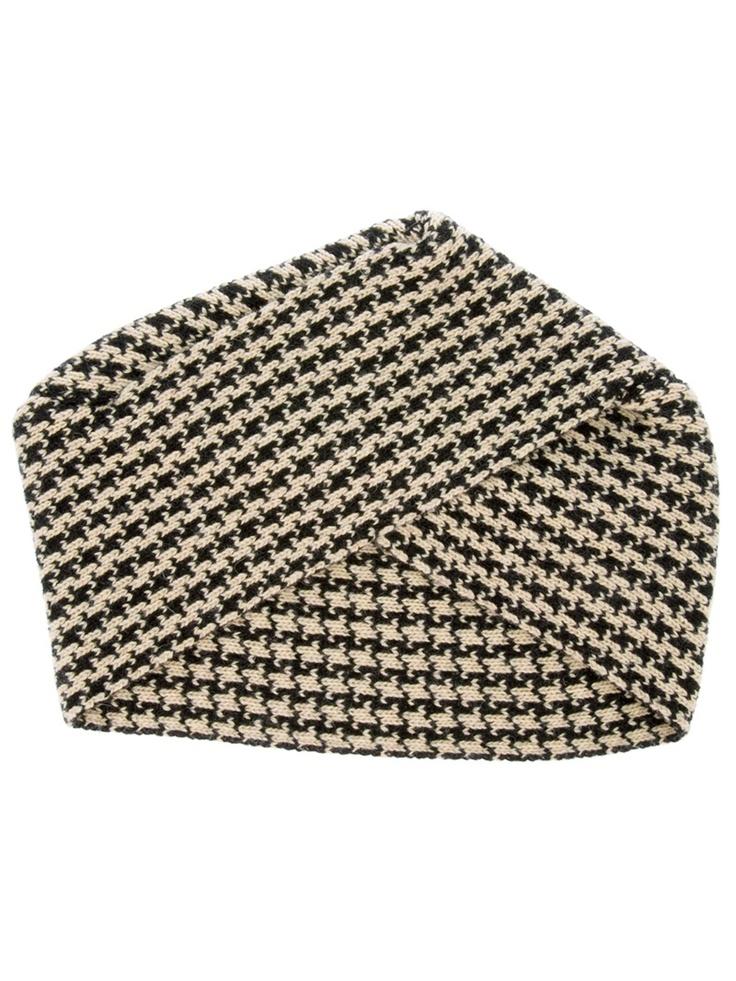 Houndstooth turban