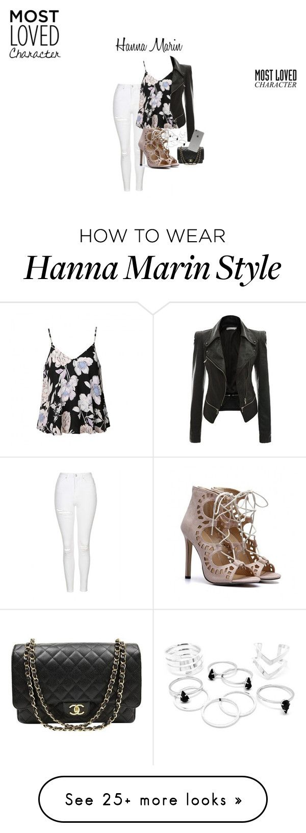 """""""Hanna Marin"""" by dari724 on Polyvore featuring Topshop, Ally Fashion, Chanel and Incase"""