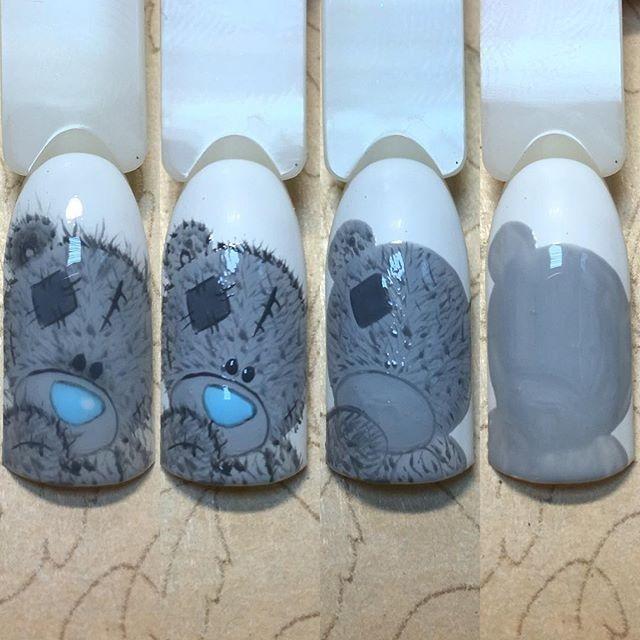 картинки мишек тедди на ногтях раз липофилингом