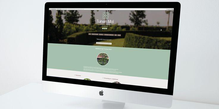 Tuinen Mol - Website realisatie - Communicatie en reclamebureau 2design Roeselare - Grafisch ontwerp, webdesign en apps - Website