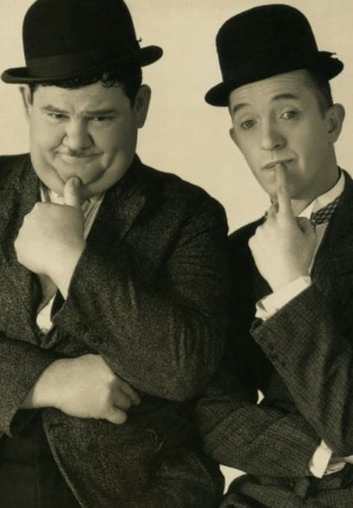 Laurel & Hardy. I used to watch these guys on tv when I was young. Reruns of course!