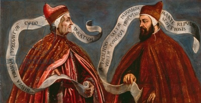 Doge Giovanni Dandolo and Doge Pietro Gradenigo, c.1585 (oil on canvas)