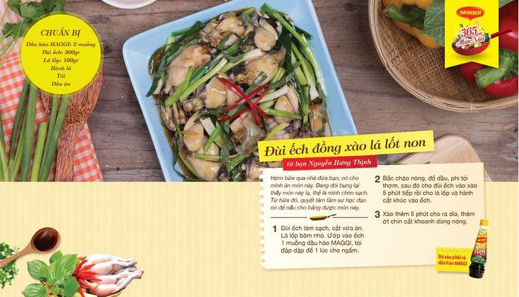 Món xào thắng giải ngày 11/4: Đùi ếch đồng xào lá lốt non từ Nguyễn HƯng Thịnh. Tham gia góp món xào ngon tại www.365monxao.com để có cơ hội trúng nhiều giải thưởng hấp dẫn
