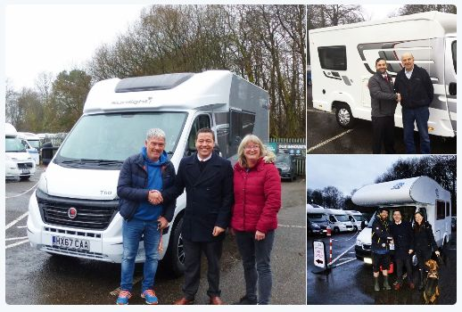 Happy customers picking up their Motorhome from Viscount Motorhomes, #Southampton and ready to begin their new adventures. #Happytraveller #ExploreUK #GB #visitengland #loveengland #englandtrip #DiscoverEurope #Camping #smiles #travel #holidays #roadtrips #Freedom