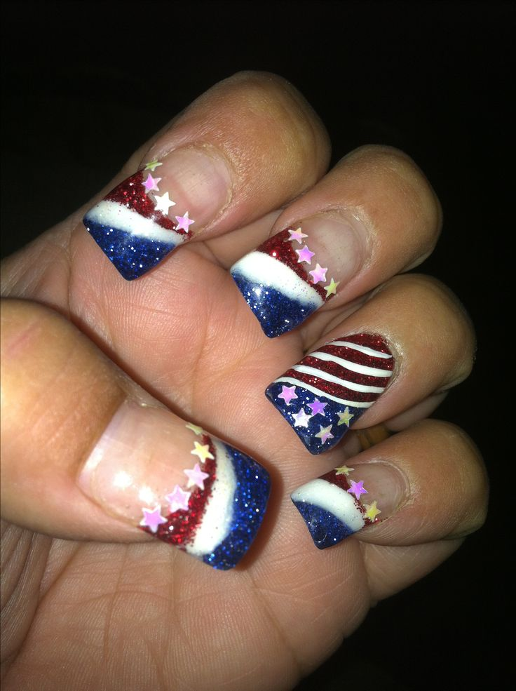 4th of july solar nail designs