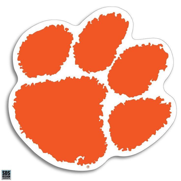 "Clemson Tiger Paw Logo 3"" Vinyl Magnet Decal Auto Home University Lockers #SDSDESIGN #ClemsonTigers"