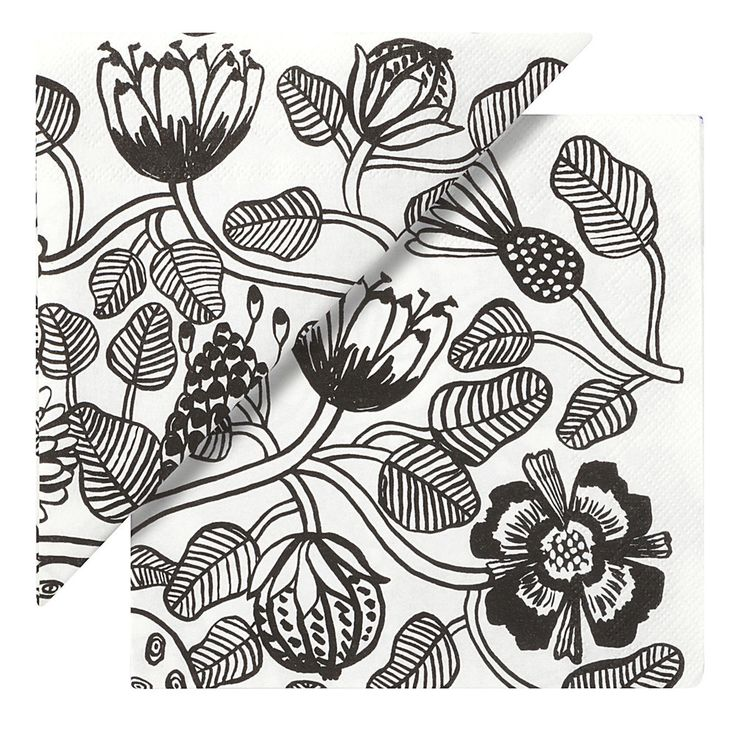 Marimekko Marimekko Tiara Luncheon Napkins White/Black - KIITOSlife - 1