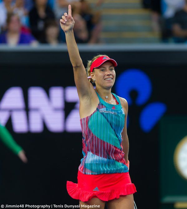 Angelique Kerber...conquered her greatest stumbling block by defeating Vika Azarenka, whio was second favored to win, for the first time in their careers in the quarterfinal round of the Australian Open 2016.