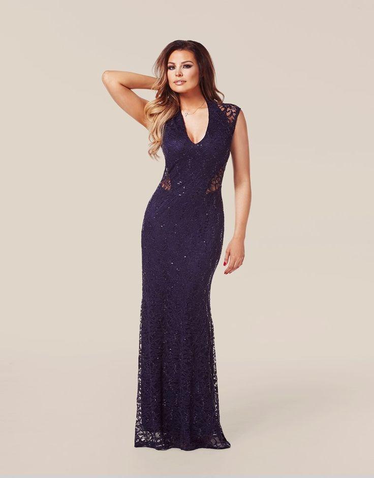 Jessica Wright Lace Panel Maxi Dress