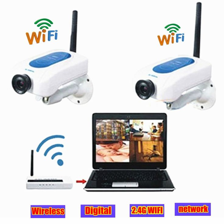 123.50$  Watch here - http://ali7pv.worldwells.pw/go.php?t=32616137964 - Wireless CCTV video surveillance Camera 2.4ghz network 2 wifi mini digital camera USB DVR Kit Home Security System 123.50$