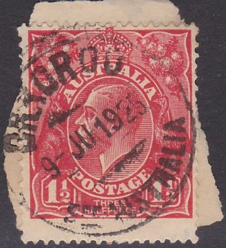 KGV-1-1-2d-Red-postmark-Orroroo-South-Australia-on-piece-1925