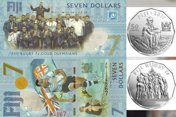 The government of Fiji is issued $7 banknotes to commemorate their first ever Olympic medal when the men's Rugby Sevens team claimed gold in Brazil. The gold medal win was one of the highlights of the Rio Olympic Games, as Fiji became the first men's side to win gold as the sport returned to the Olympic programme. The $7 banknotes, which are legal tender and are the only known $7 notes in circulation in the world. Two million of the $7 notes were released by Fijian Government, along with one…