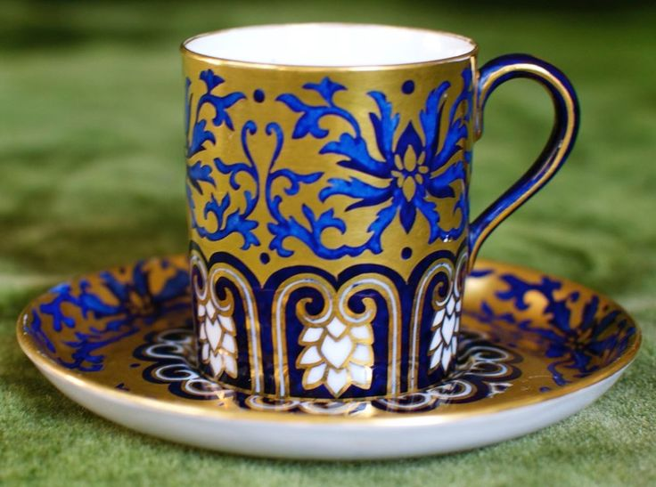 Coalport coffee can and saucer