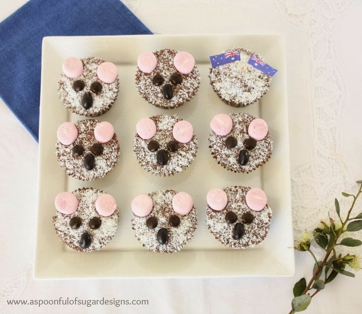 Koala Cupcakes | A Spoonful of Sugar