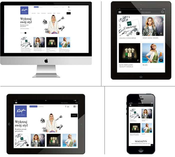 Klif Fashion – responsive website www.klif.pl / CHILID for Klif Fashion Mall / Agency: CHILID Creative Dir.: Anna Zarudzka Designer / Graphic Designer: Wojciech Trzpis, Anna Bil / Front-end developer: Marek Mrowiec, Kamil Ogórek