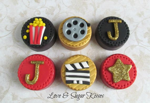 Fondant topped chocolate covered Oreos Red by lovesugarkisses, $50.00
