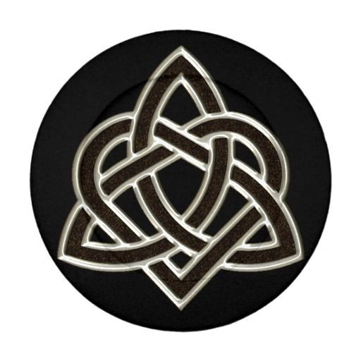 Celtic Trinity Heart Knot Button Covers