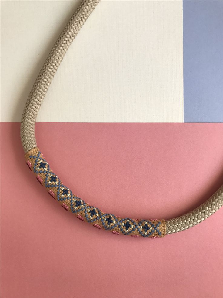 Embroidered necklace by Alchemy Loop #contemporaryjewellery
