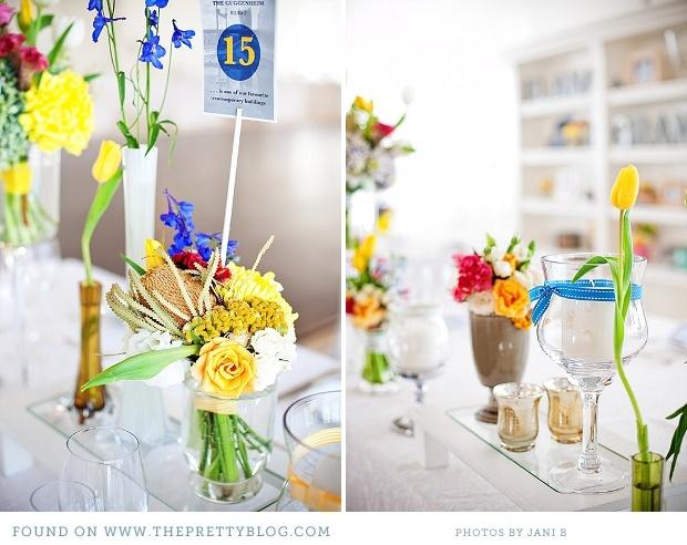 Yellow table decor